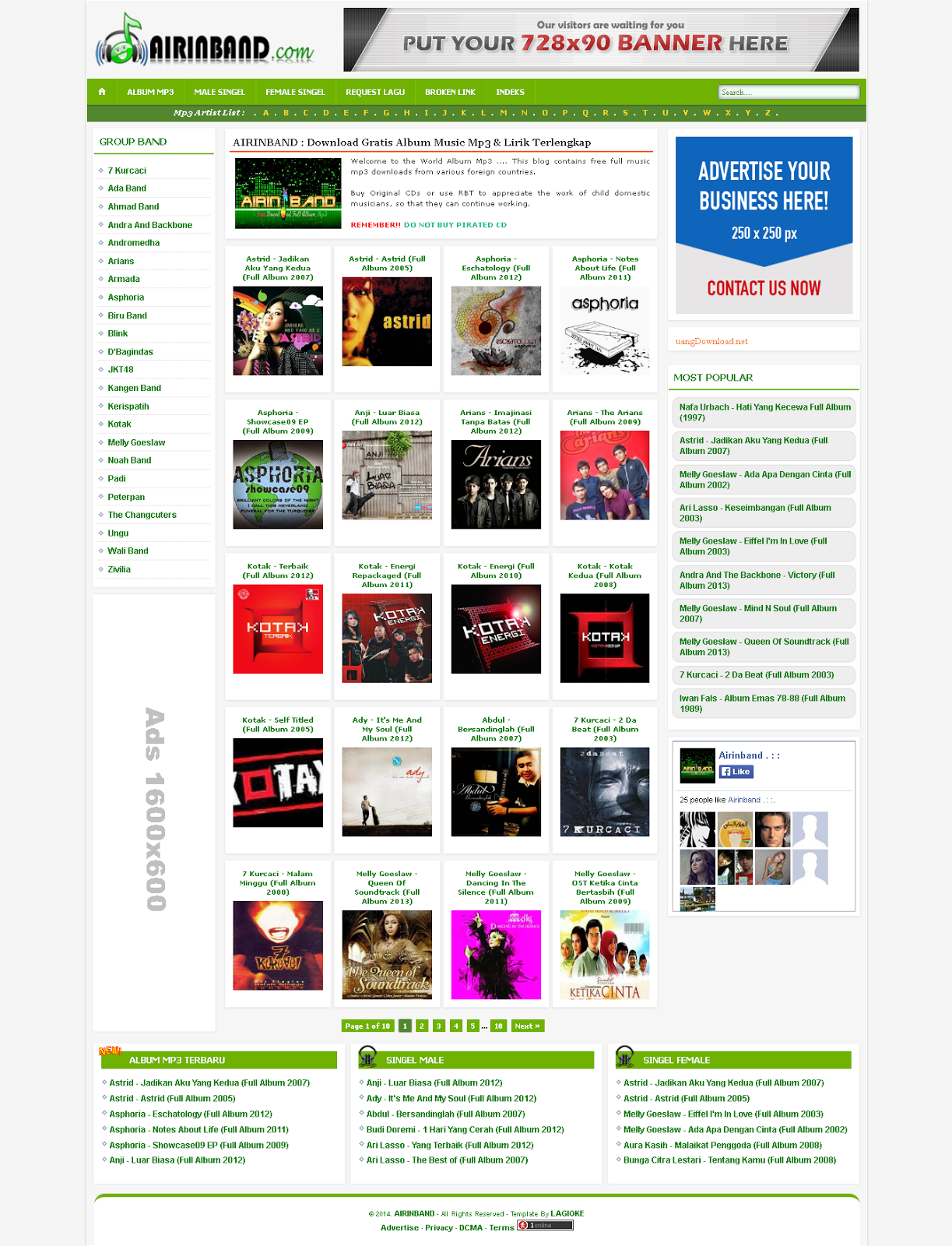 Airin Band  Blogger Responsive Music Templates
