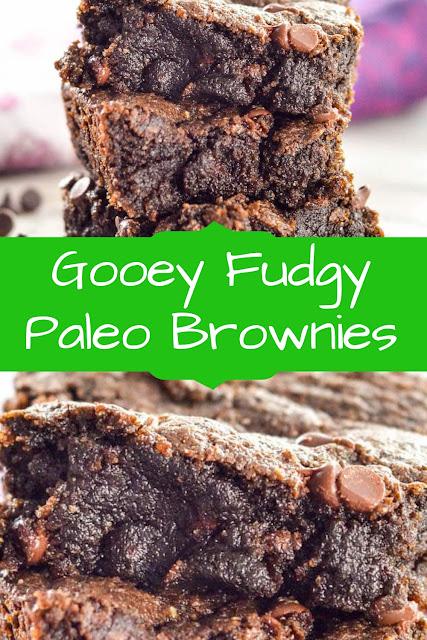 Gooey Fudgy Paleo Brownies   #GooeyFudgyReceipes  #BrowniesReceipes  #FudgyPaleoReceipes