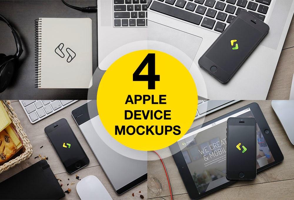 IPhone 5, IPad And Macbook Mockups PSD