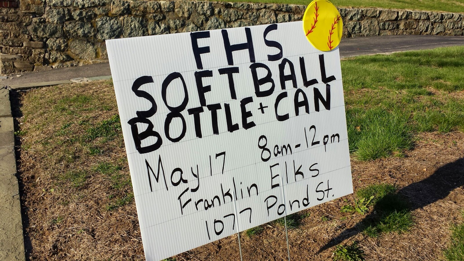 FHS Softball - Bottle/Can Drive - Sat May 17th
