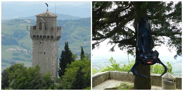 Terceira Torre vista da Segunda Torre - San Marino