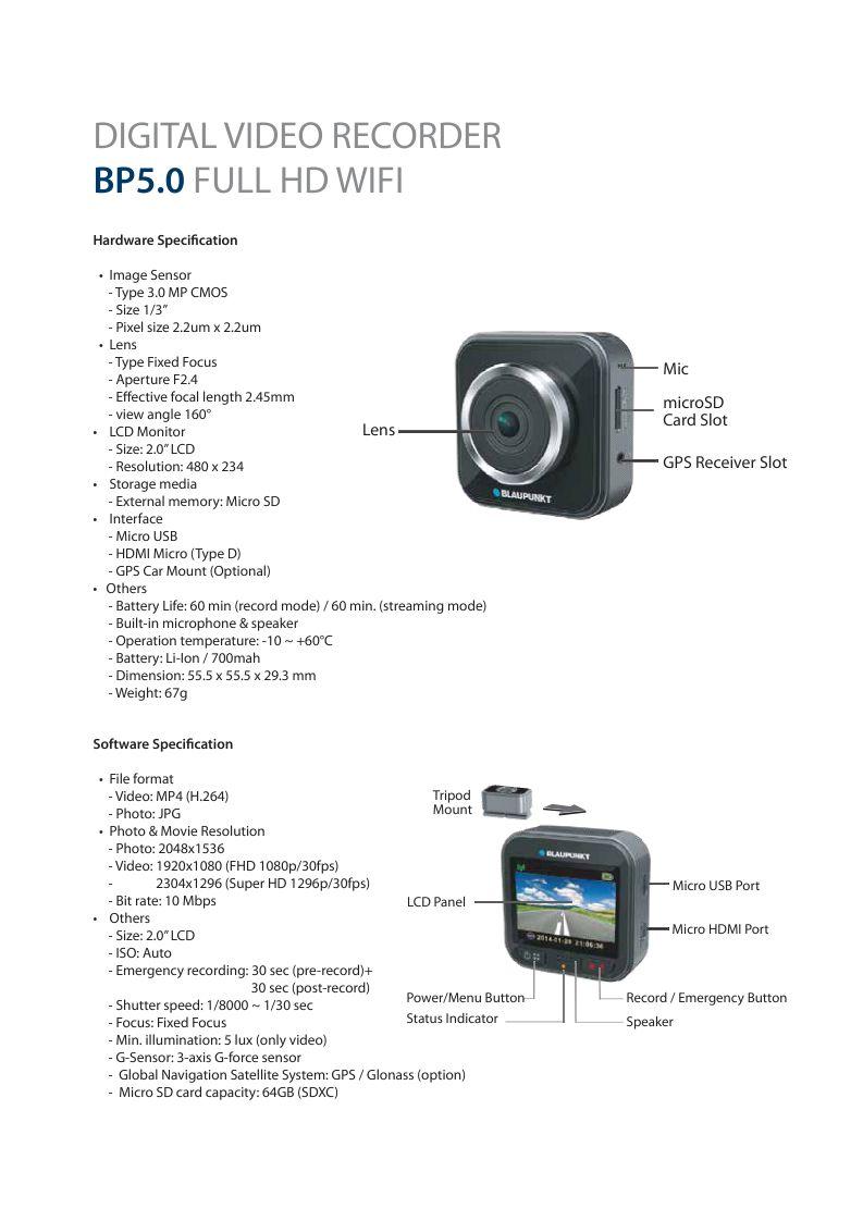 Blaupunkt Dashcams: Watching Out for You (w/ Brochure ...  Blaupunkt Dashc...