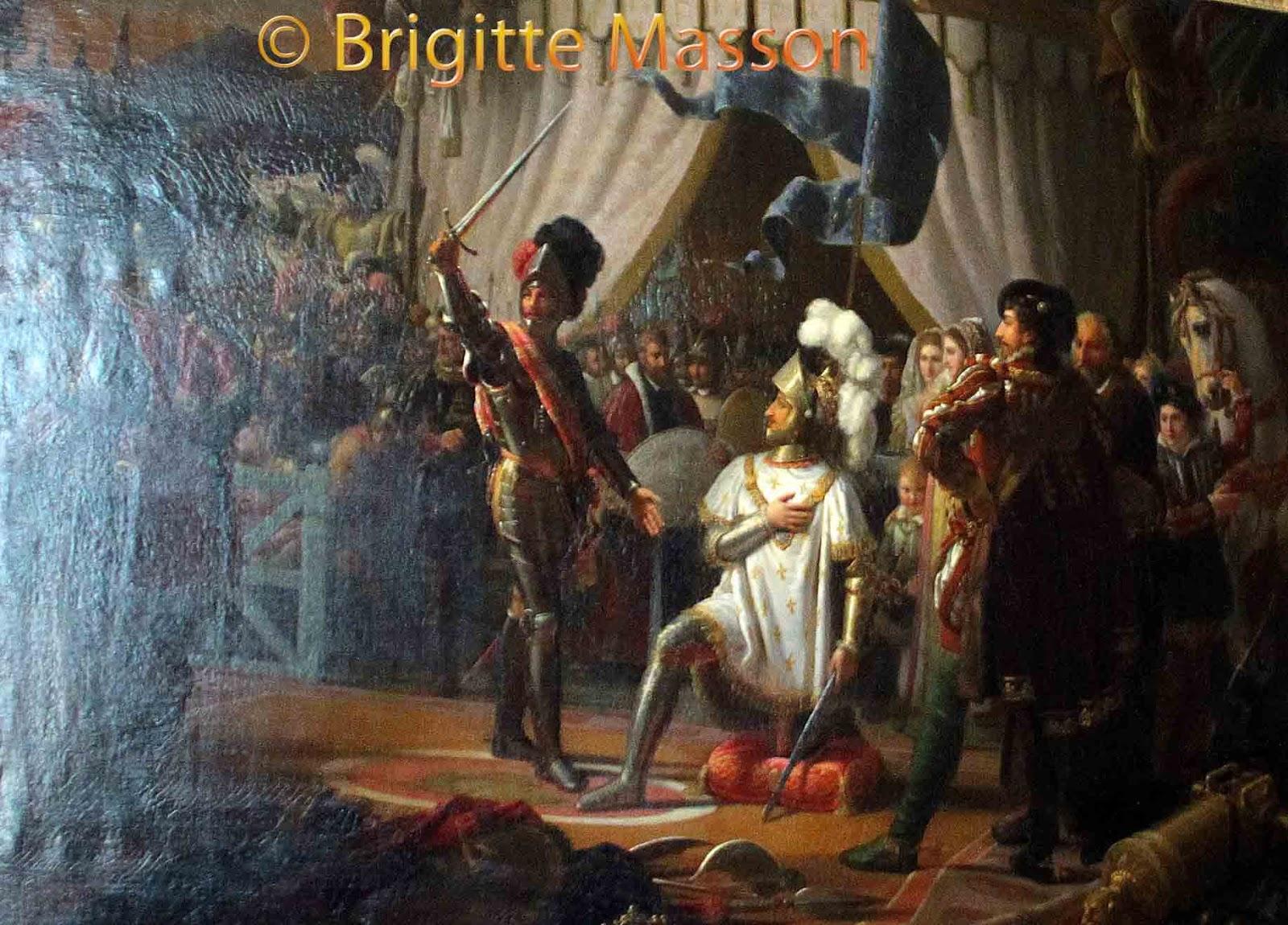 Fran§ois 1er armé chevalier par Bayard  la bataille de Marignan