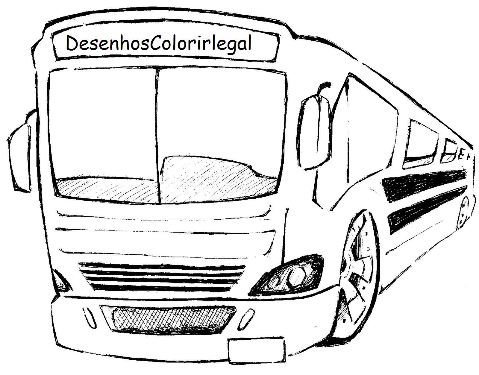 Desenhos Colorir Legal Desenho De Onibus Escolar Colorir Legal