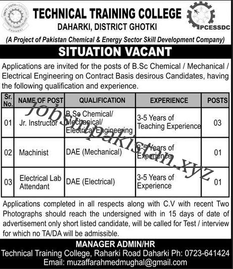 http://www.jobsinpakistan.xyz/2018/08/technical-training-college-daharki.html