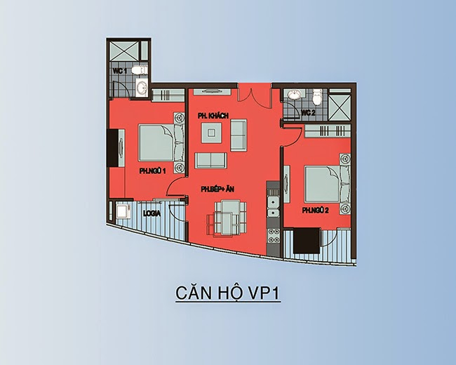 căn hộ VP1 - 78,3m2