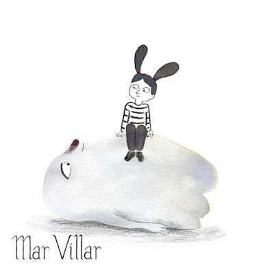 Dibujo de fantasma, ilustración de fantasma, diseño de personajes, tinta, Mar Villar, fantasma tumbado