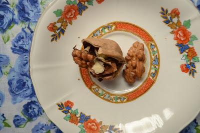 Ensalada de peras, nueces y queso azul