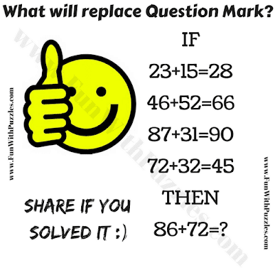 It is mind twisting maths question in which your challenge is solve the given if-then logical equations and then find the value of the missing number which will replace the question mark.