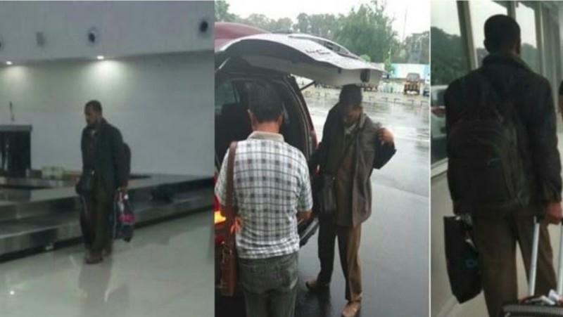 Muhammad Nadir Umar saat ditangkap di Bandara Juanda