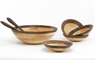 wooden new hampshire board and bowls wooden bowl
