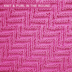 Rib and Welt Diagonals - Pattern 1 - knitting in the round