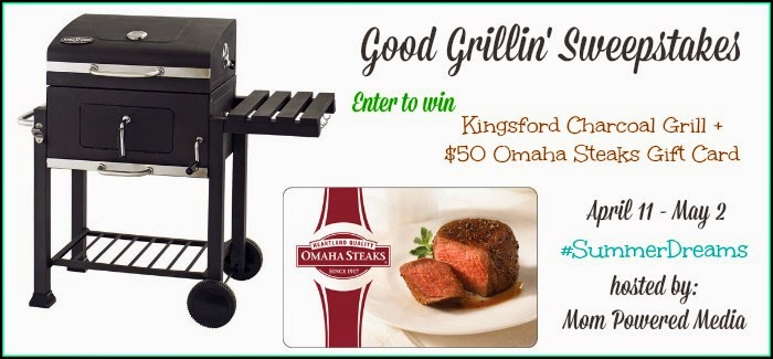 Enter the #SummerDreams Good Grillin' Giveaway. Ends 5/2.