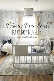 modern eclectic boys nursery