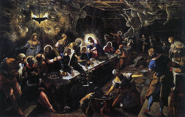 Jacopo Tintoretto - The Last Supper (1592-1594)/psartworks.in