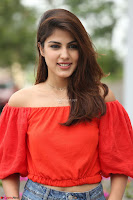 Rhea Chakraborty in Red Crop Top and Denim Shorts Spicy Pics ~  Exclusive 152.JPG