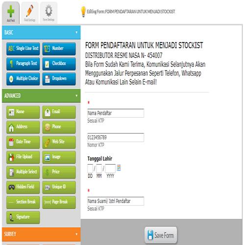 Membuat Formulir Pendaftaran Dengan EmailMeForm
