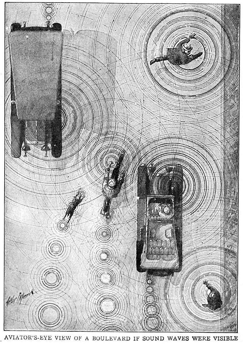 1913 illustration of sound by Arthur T. Merrick