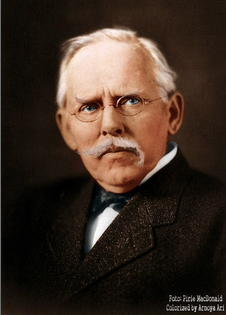 Jacob Riis (1849–1914) by Ian Pirie MacDonald, color colorization colorized