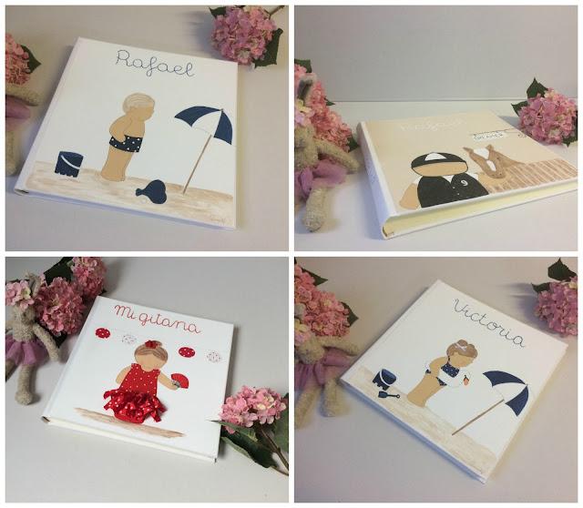 álbumes de fotos infantiles personalizados pintados a mano