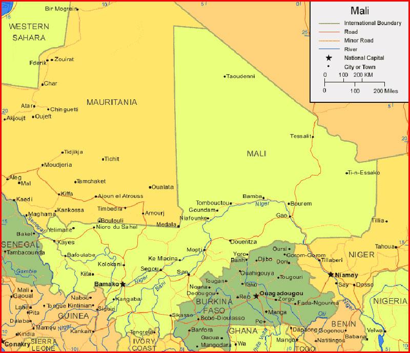 √ Mali Map Africa | Sejarah Indonesia: Peta Dunia | 204 Maps of ...