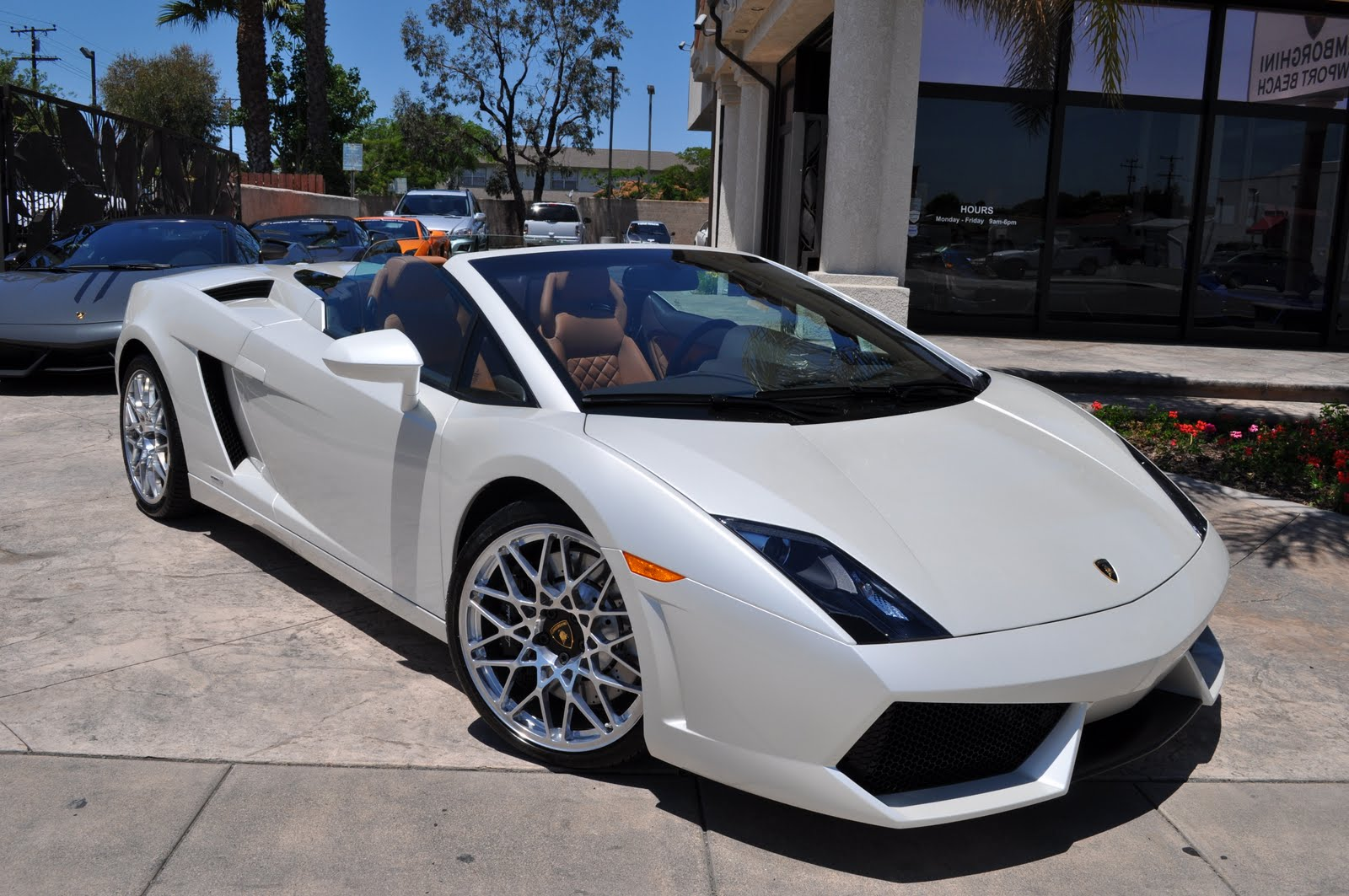 Pearl White Spyder Lp560 4 Exhaust System Bicolore Interior