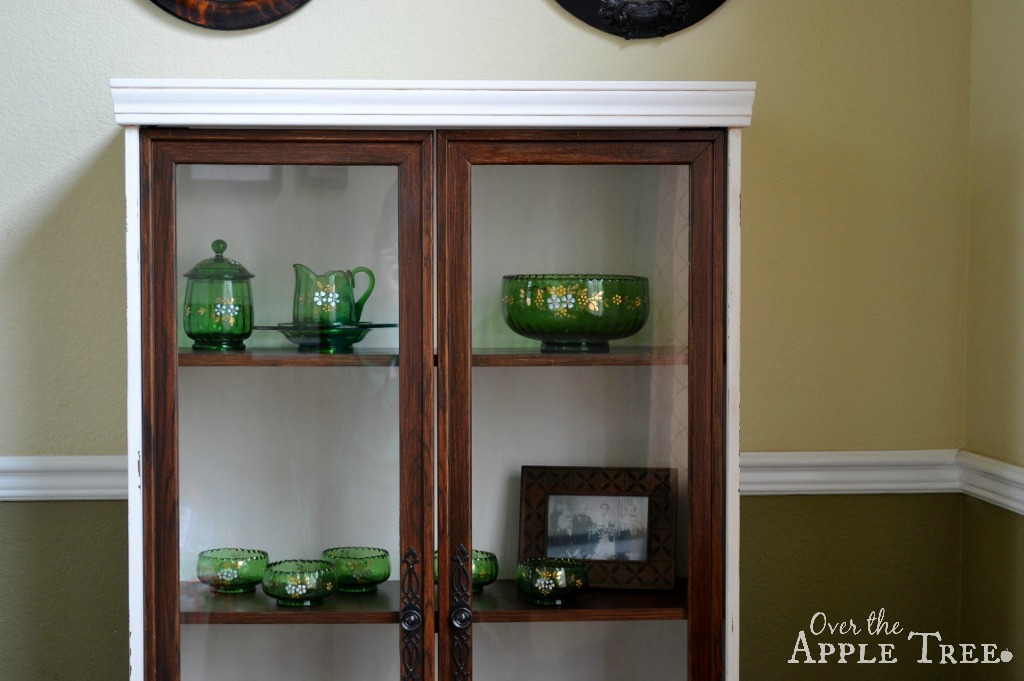 Over the apple tree thrift store hutch makeover