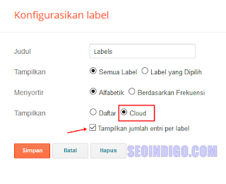 memasang label cloud di blog