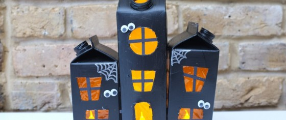 Casitas terroríficas portavelas, para decorar tu hogar