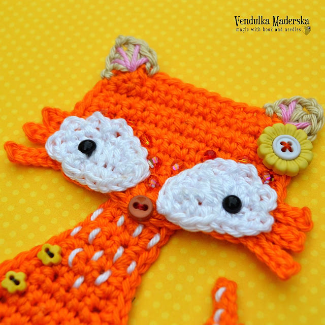 Crochet fox by Vendula Maderska