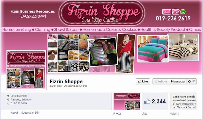Tempahan Design Facebook Timeline Cover : Fizrin Shoppe & Fizrin Health and Beauty