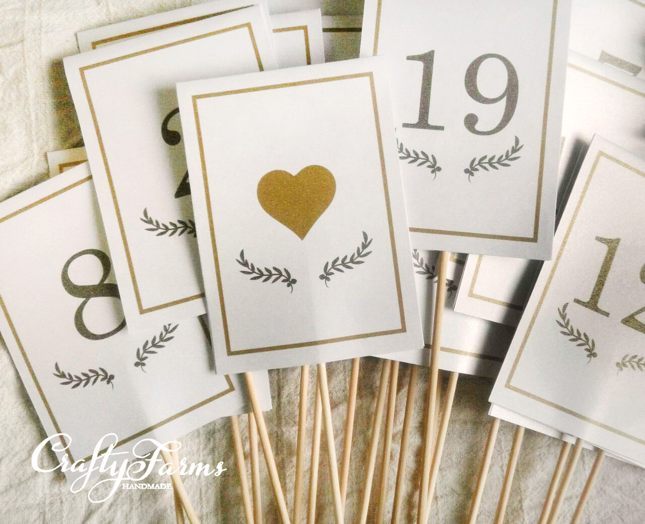Wedding Card Malaysia | Crafty Farms Handmade : Table Number Printing