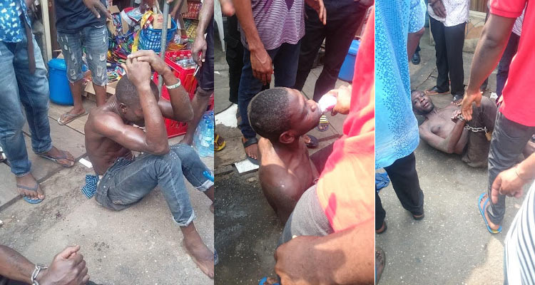 Thieves get yogurt drink after receiving jungle justice from angry mob
