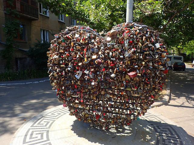 Serce z kłódek w Odessie