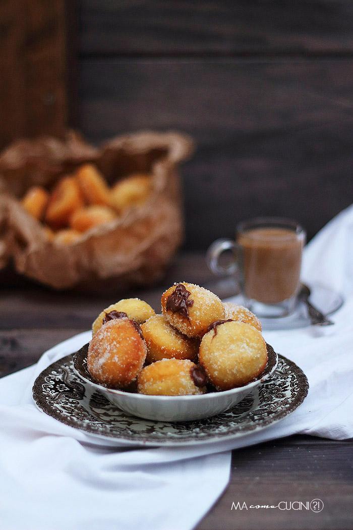 ciambelline di patate e nutella balls