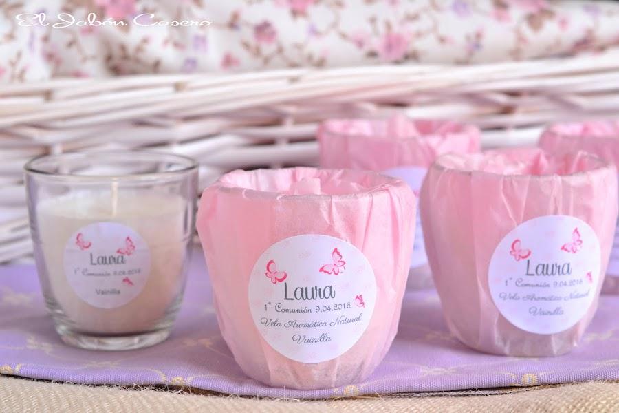 Detalles para bodas comuniones bautizos velas aromaticas