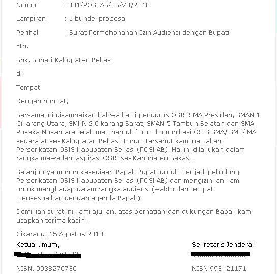 23 Free Download Contoh Surat Audiensi Kepada Rektor Format Doc