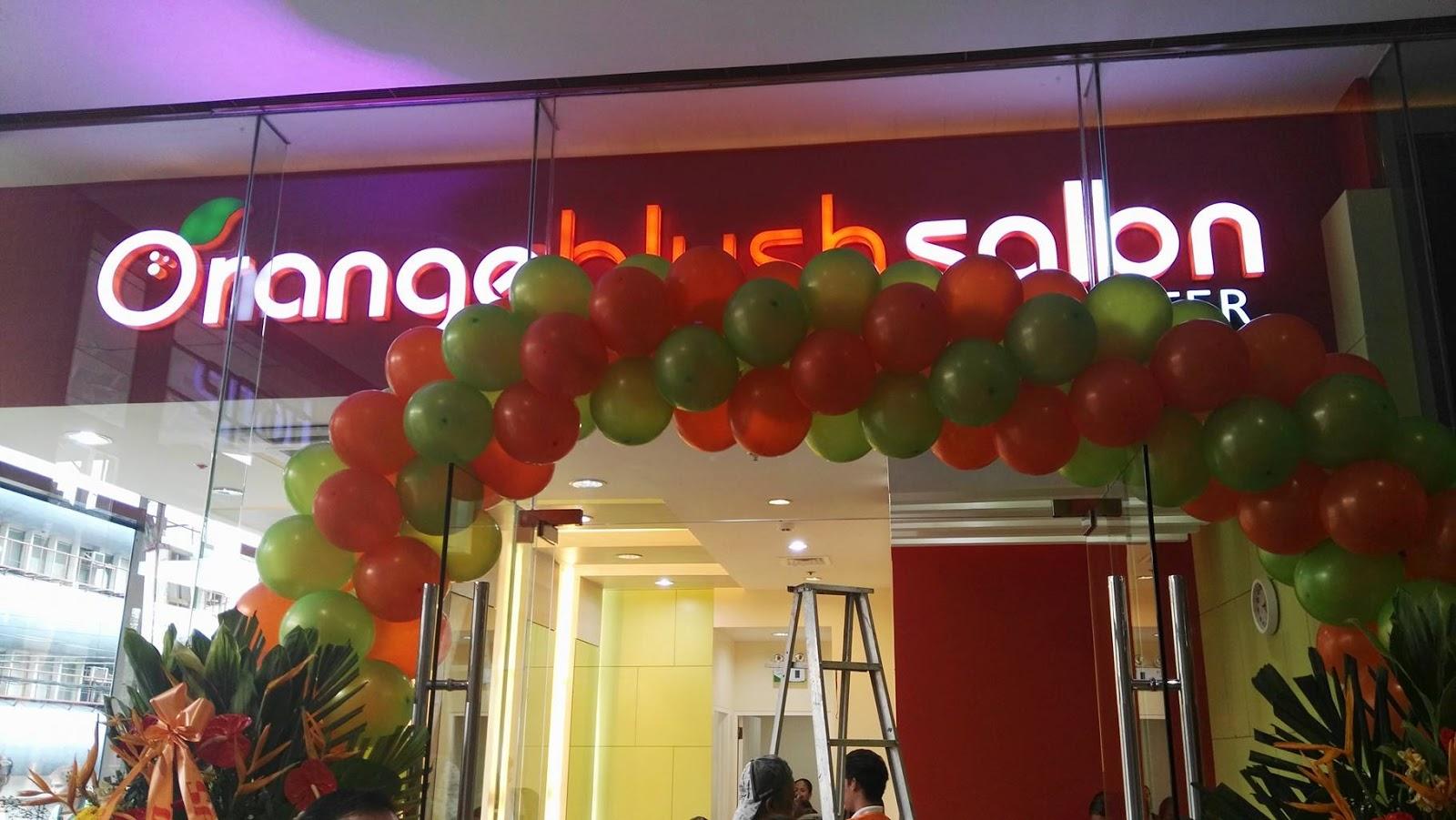 Orange blush salon opens metro manila flagship salon in for Salon orange