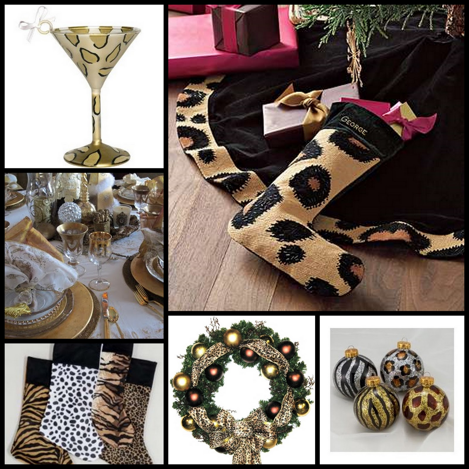 Animal Print Decor: Metro Luxe Events Candice Vallone: Animal Print Christmas