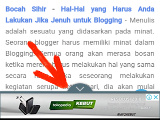 cara memasang iklan page level