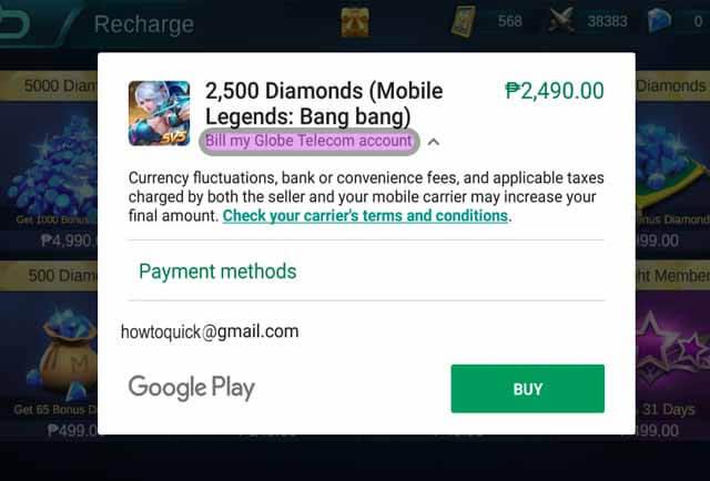 How to Buy Diamonds in Mobile Legends Using Globe and Smart