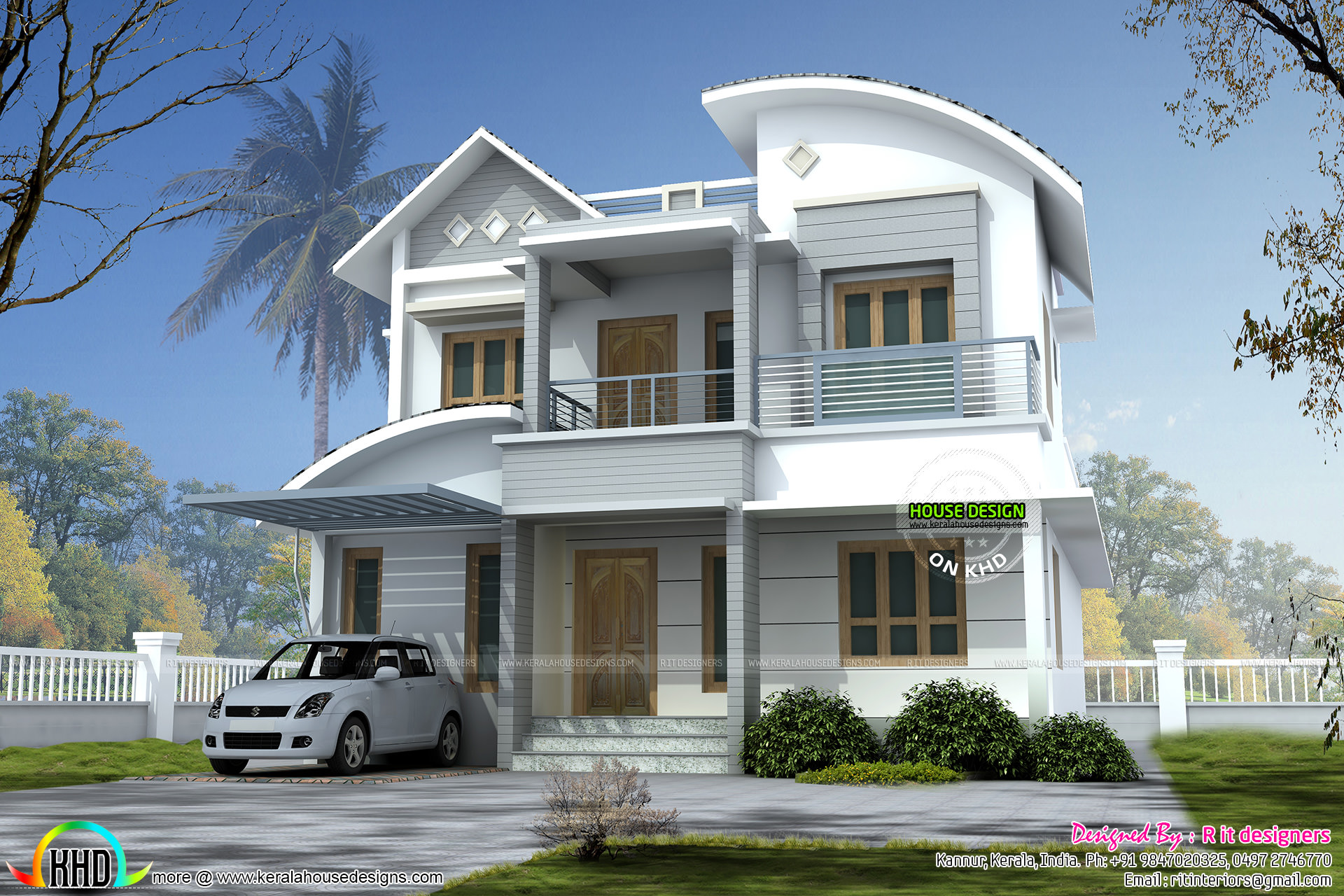 2145 square feet modern home design kerala home design Modern square house