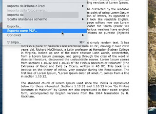 Esporta come PDF