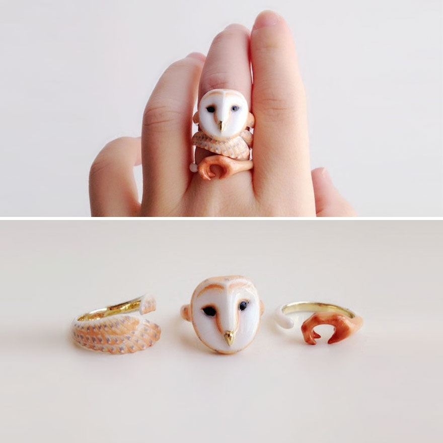07-Owl-Mary-Lou-Three-Piece-Animal-Jewellery-Rings-www-designstack-co