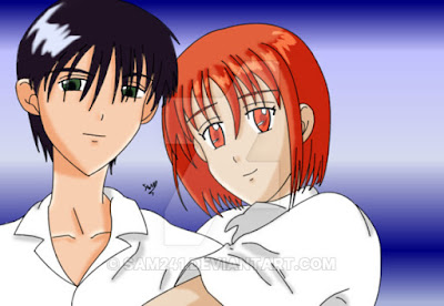 Arima and Yukino from the anime KareKano, my first ever digital piece!