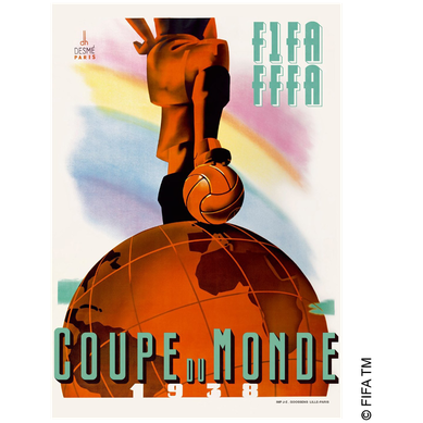 Logo Piala Dunia FIFA Tahun 1938 Prancis