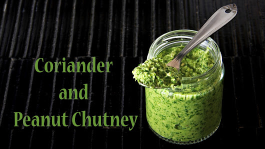 Recipe - Coriander and Peanut Chutney