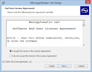 MessageViewer Lite .eml viewer licence agreement