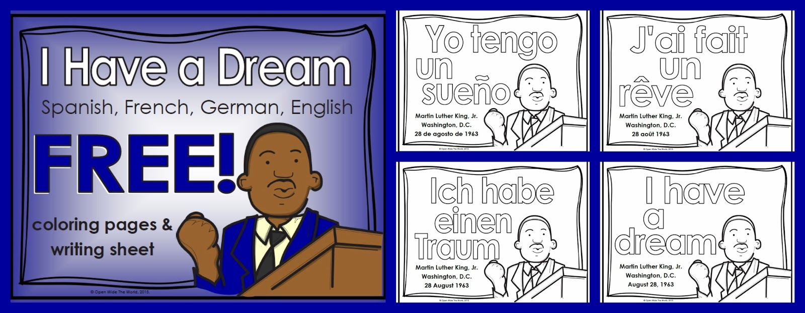 Martin Luther King Coloring Pages Jr Color By Number Printable