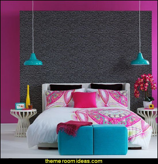 Fun funky cute colorful chic and trendy decorating ideas for teens bedrooms and girls bedrooms
